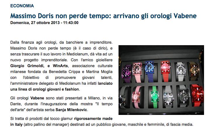 27 Ottobre 2013 – Affaritaliani.it