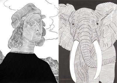 Raffaello e Elefante