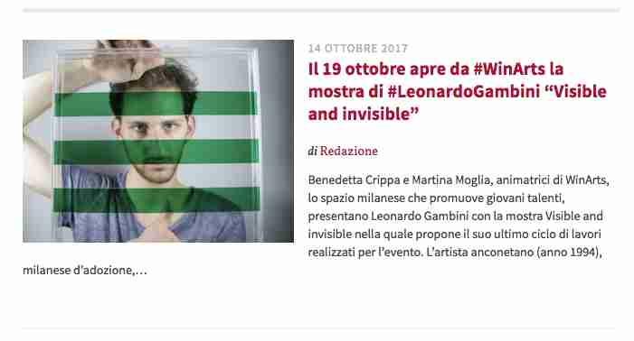 14 Ottobre 2017 – Culturame.it