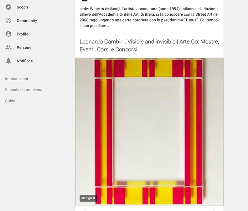 13 Ottobre 2017 – Giorgio De Novellis | Redazione Cultura